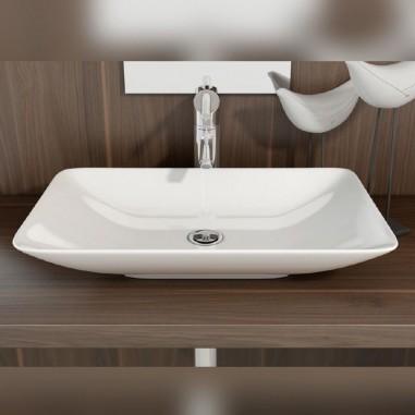 Lavabos sobre encimera rectangulares baratos the bath for Lavabos cuadrados sobre encimera