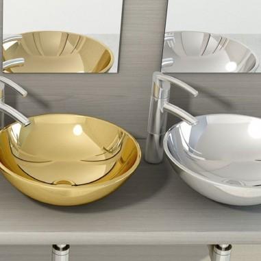 Lavabo cerámica sobre encimera Bol