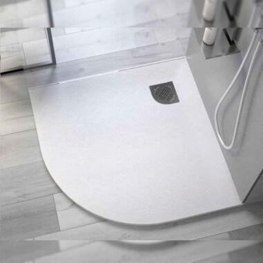 Plato ducha esquina de resina Angular