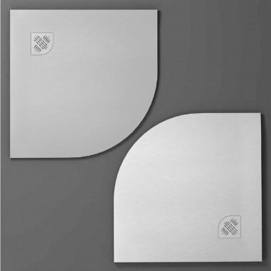 Plato de ducha de resina Angular