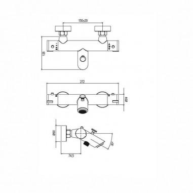 Grifo termostático baño Olimpo