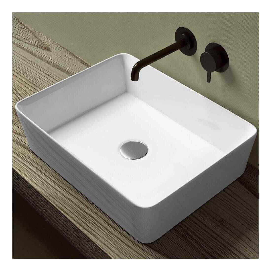 Lavabo sobre encimera adara the bath - Lavabos rectangulares sobre encimera ...
