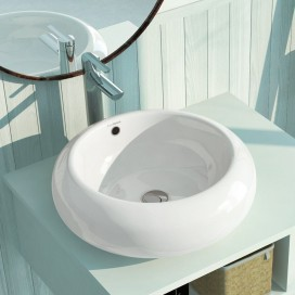 Materiales para el ba o a precios de f brica the bath for Lavabo redondo sobre encimera
