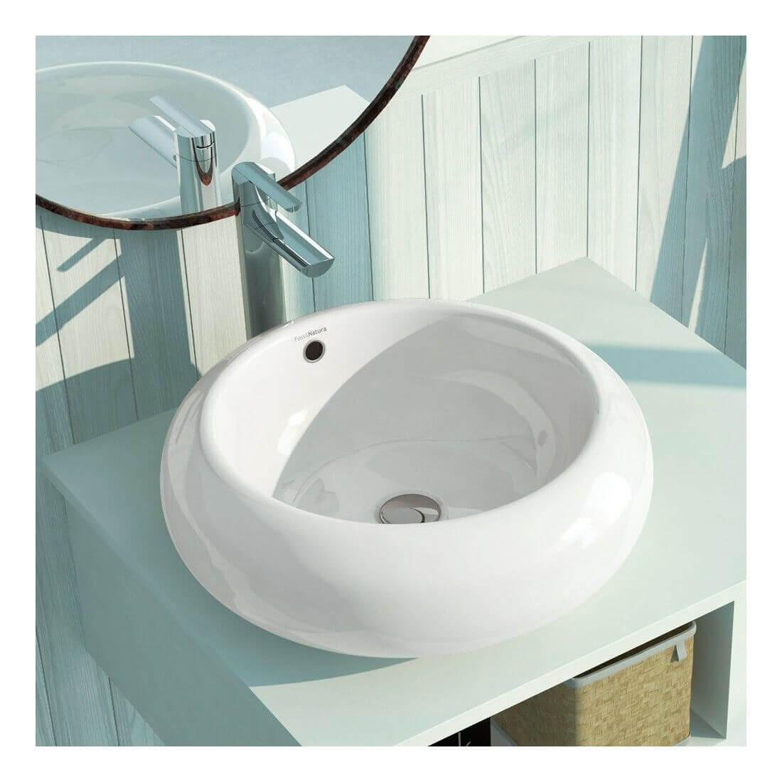 Comprar lavabo sobre encimera redondo circus al mejor for Lavabo sobre