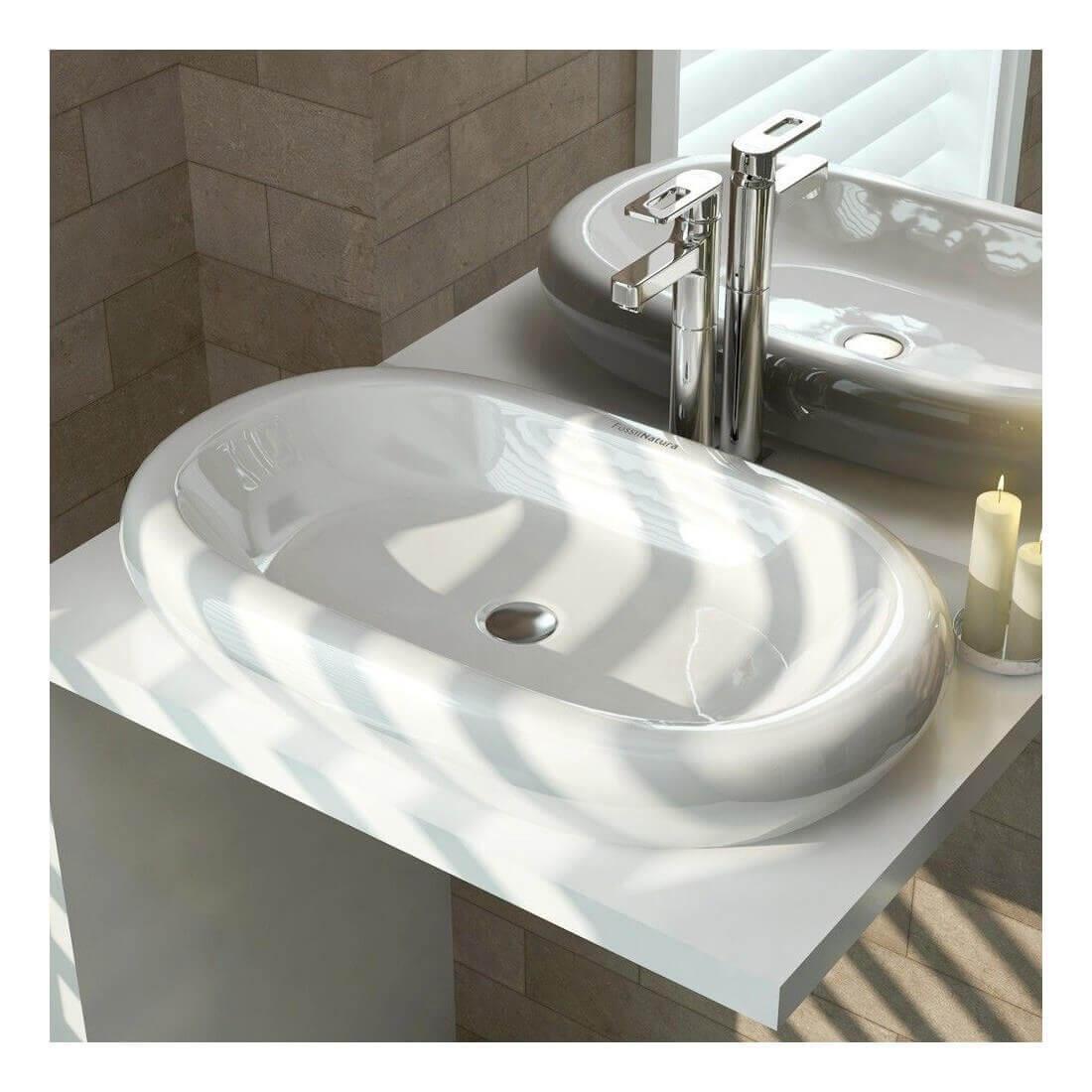 lavabo sobre encimera oval
