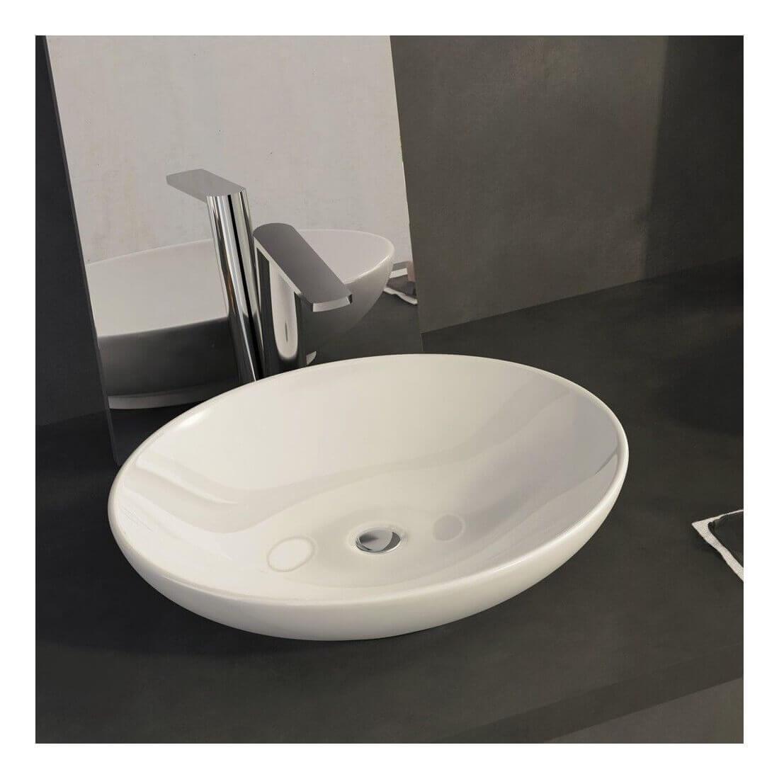 Comprar lavabo sobre encimera ovalo al mejor precio online - Lavamanos sobre encimera ...