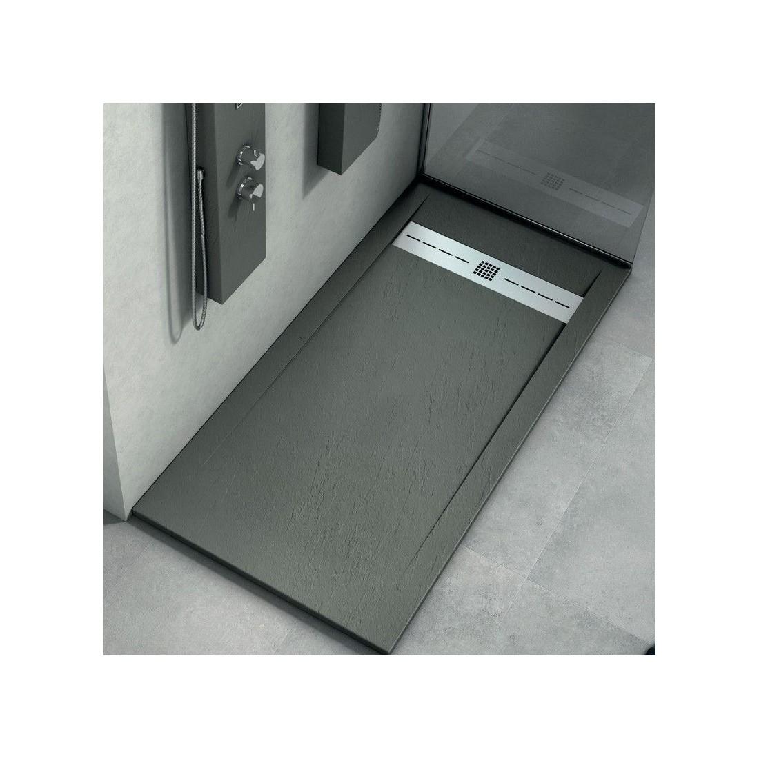 comprar plato de ducha de resina con textura piedra antideslizante. Black Bedroom Furniture Sets. Home Design Ideas