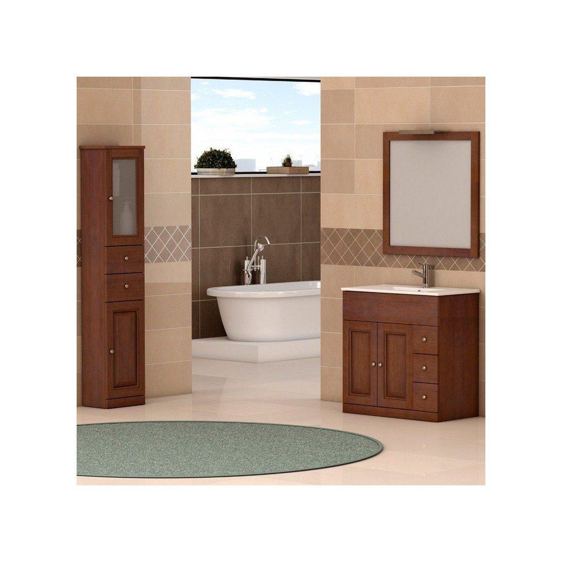 Mueble de ba o cl sico segura the bath for Muebles d3 bano