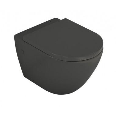 Inodoro negro suspendido sin cisterna Verona Black brillo