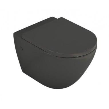 Inodoro suspendido negro sin cisterna Verona Black