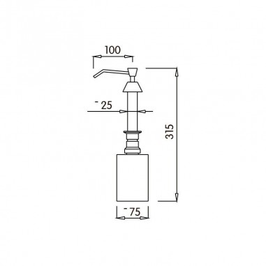 Dosificador de Jabón botella Integrado
