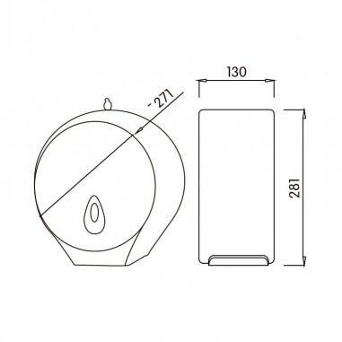 Dispensador de papel higienico ABS