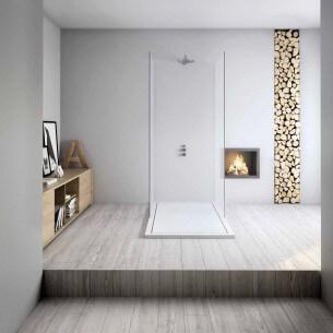 Base de chuveiro resina textura quadro Minimalista