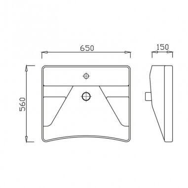 Conjunto Lavabo PMR ergonómico