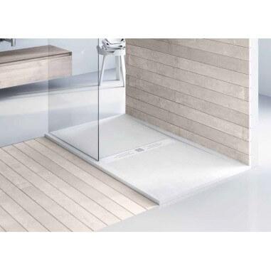 Plato de ducha resina textura madera