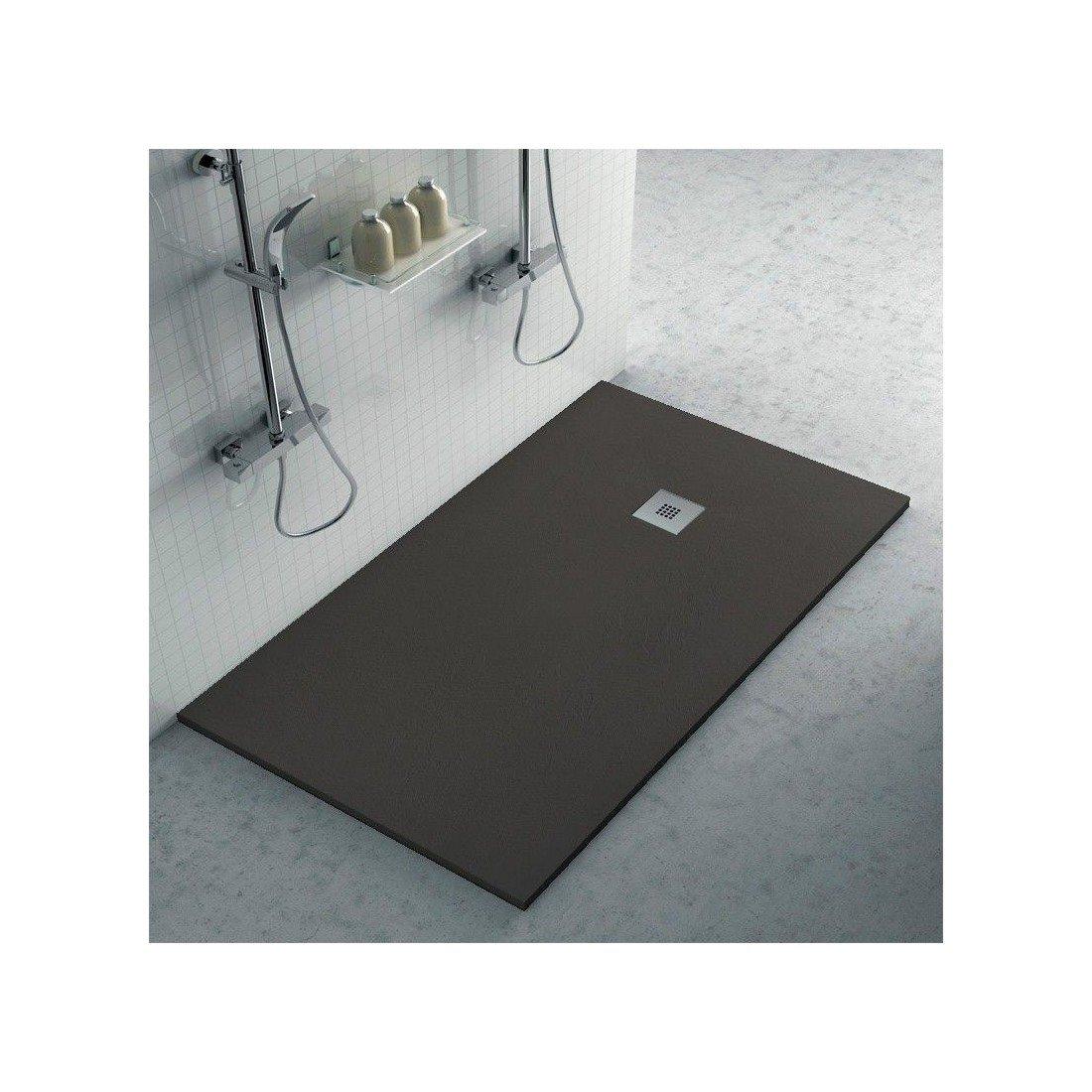 Comprar plato de resina pizarra antracita barato online - Plato de ducha negro ...