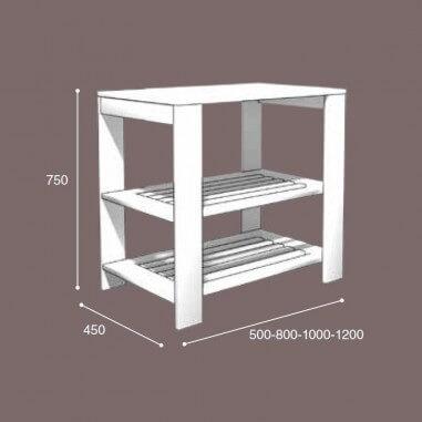 Mueble de baño de madera Monaco