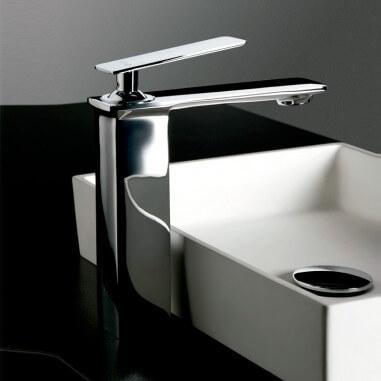 Grifo lavabo caño alto Quart