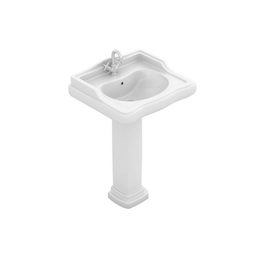 Comprar lavabo vintage atenas marca fossil natura al mejor for Lavabo con pedestal