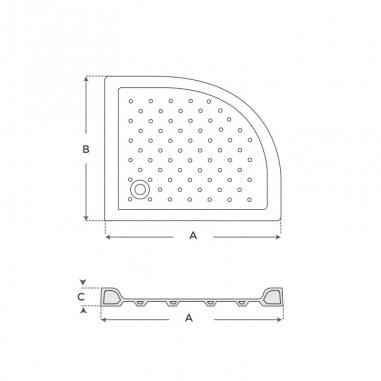 Plato de ducha acrílico angular