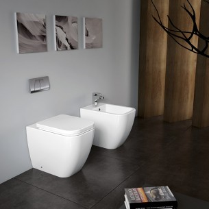 Pack cisterna empotrada + inodoro Duomo compacto