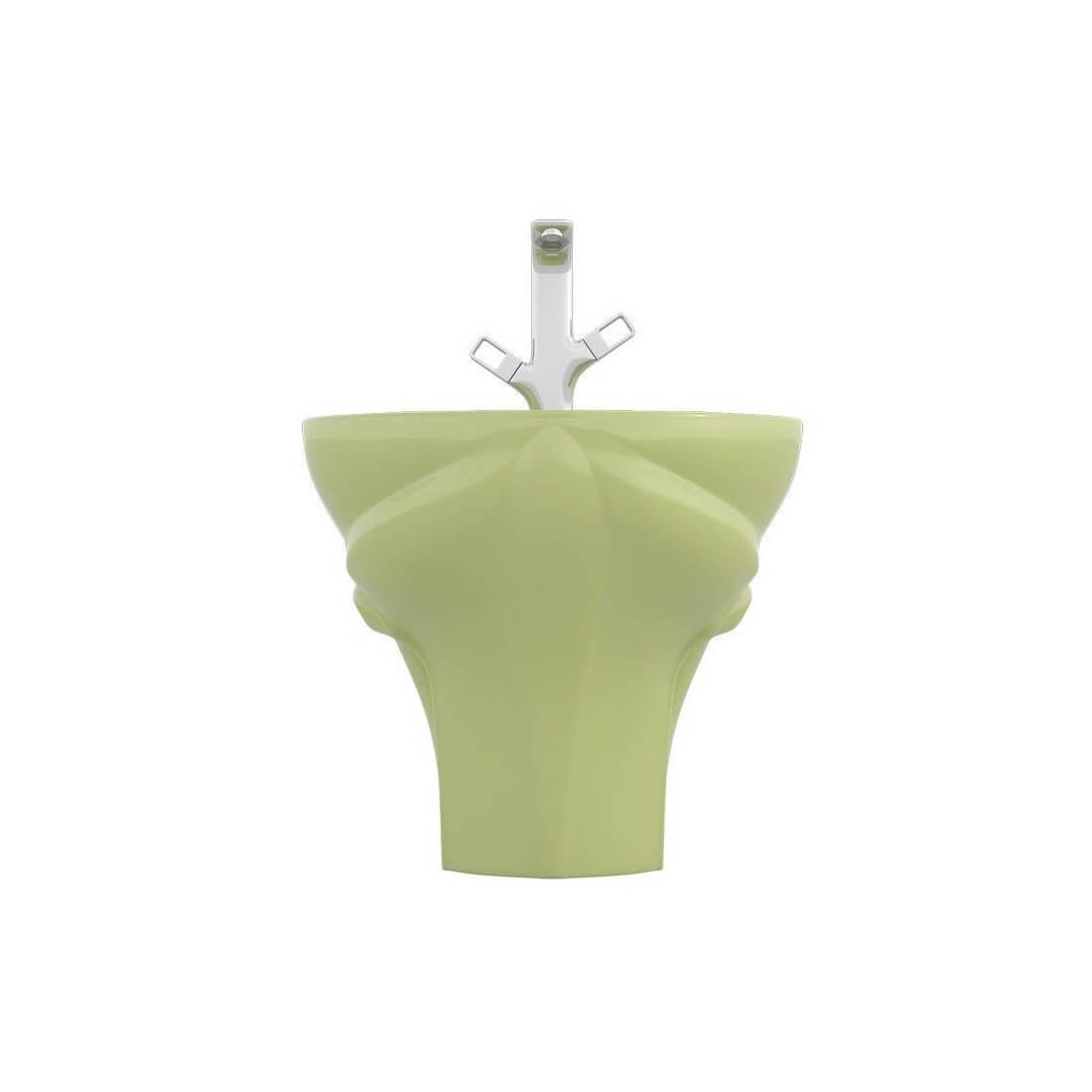 Lavabo para niños suspendido frogy verde   the bath