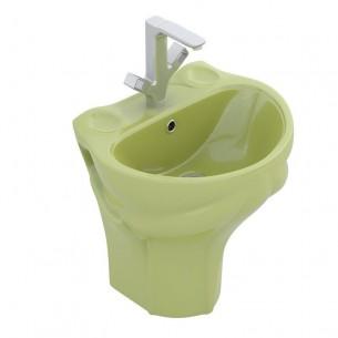 Lavatório para crianças suspenso Frogy verde