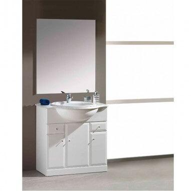 Armário de casa de banho com lavatório Oval