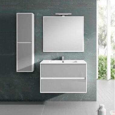 Casa de banho do armário para pendurar Bicolor