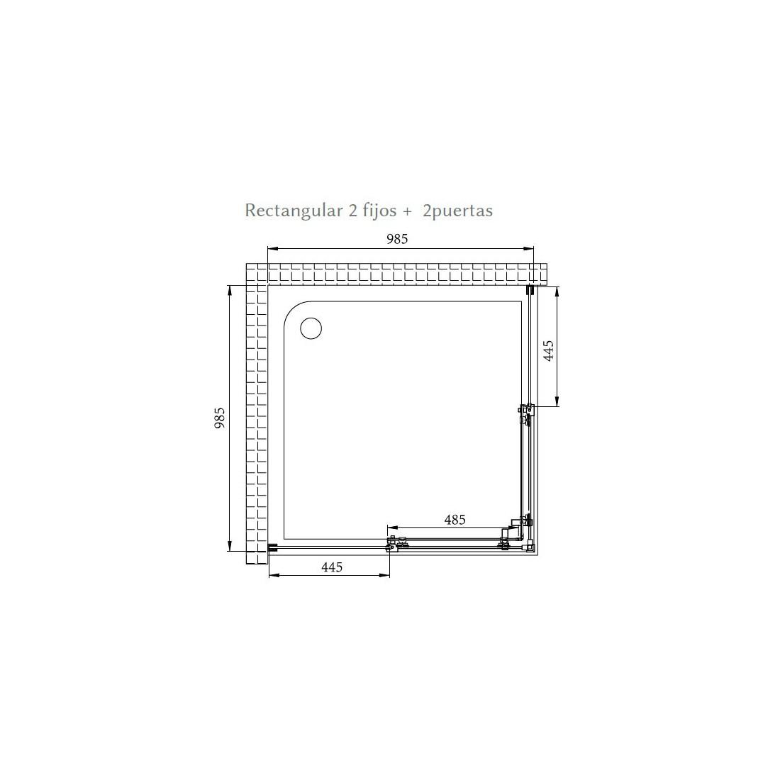 ▷ Comprar mampara rectangular Sena al mejor precio online
