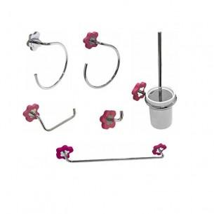 Conjunto accesorios de baño Flower