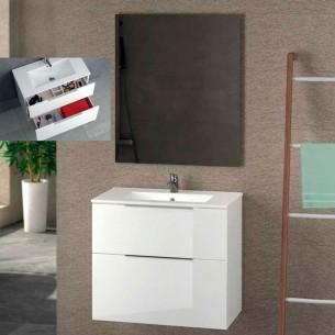 Armário de banheiro de fundo reduzido