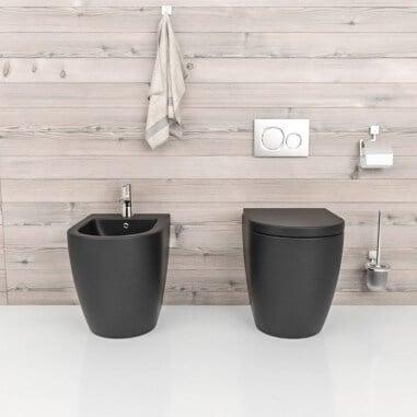 Inodoro negro mate compacto sin cisterna Verona Black