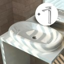 Pack lavabo Oval + grifo Flat