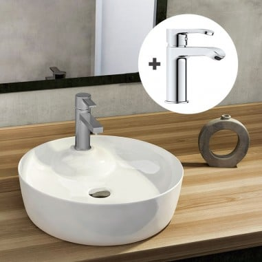 Pack lavabo Adalis + grifo Cascada