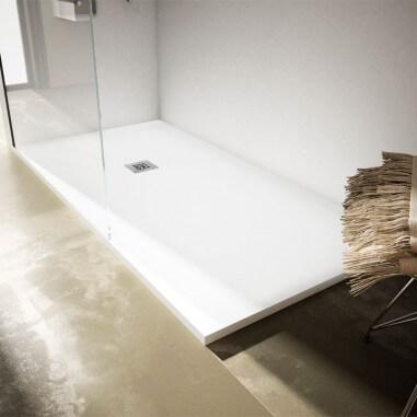 Base de chuveiro de resina textura Lisa