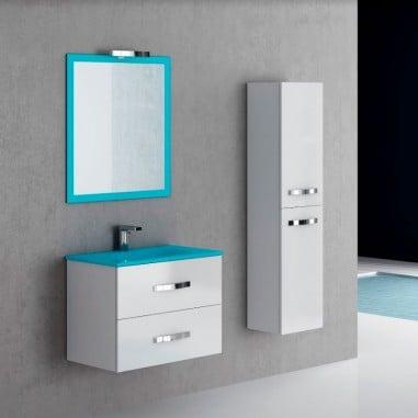 Mueble suspendido lavabo cristal Deva