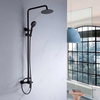 Columna de ducha negra monomando
