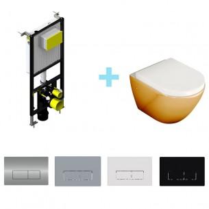 Pack inodoro Oro + cisterna empotrada suspendida