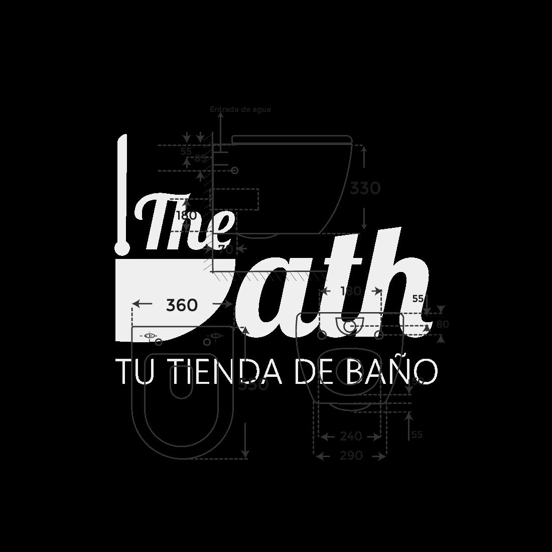 ▷ Inodoro sin cisterna negro suspendido Verona -【Fossil Natura】- TheBath
