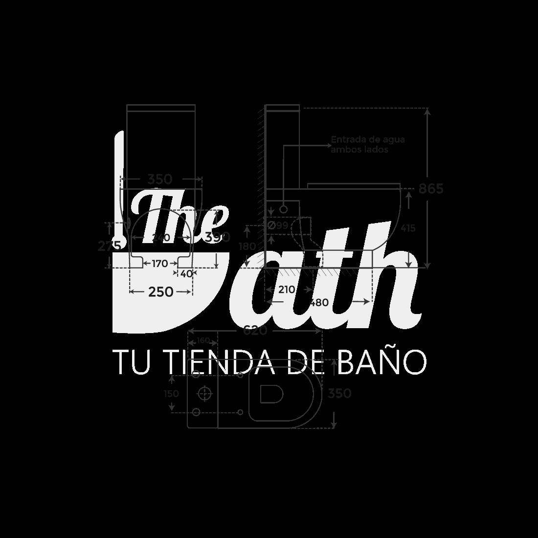 ▷ Inodoro tanque bajo Marsella -【Fossil Natura】- TheBath