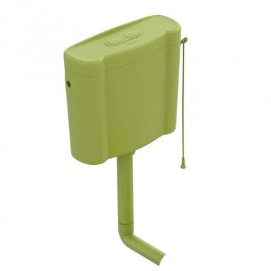 Cisterna Frogy verde con alimentación base (sin mecanismo)