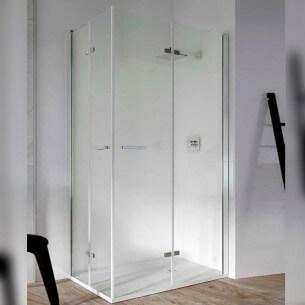Mampara de baño rectangular plegable