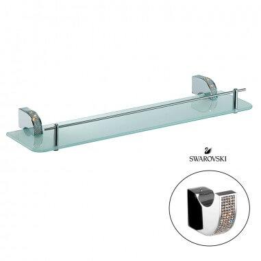 Prateleira para banheiros com cristais swarovski