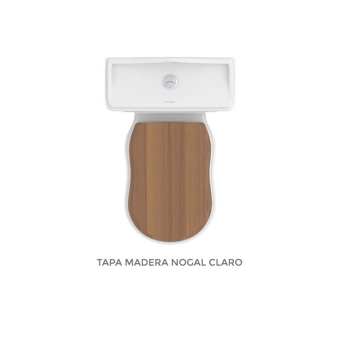▷ Inodoro vintage Atenas tapa madera -【Fossil Natura】- TheBath