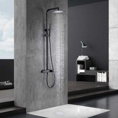 Columna ducha negra monomando Suecia