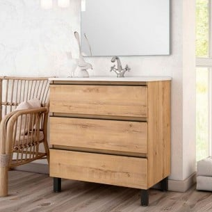 Pack Mueble Ostippo + lavabo + Grifo