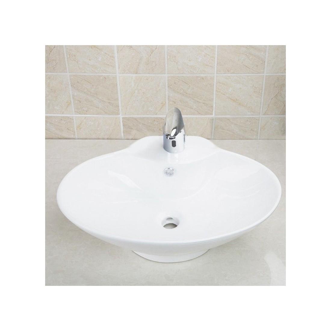 Lavamanos sobre encimera lavabo sobre encimera mariposa for Lavabo sobre