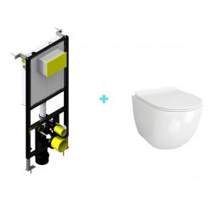 Pack cisterna + inodoro suspendido mini