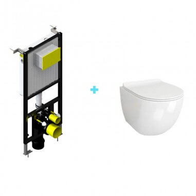 Pacote de tanques + mini vaso sanitário suspenso